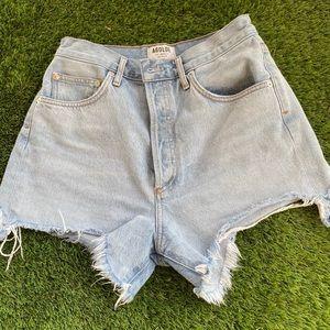 Agolde High waisted denim shorts size 28